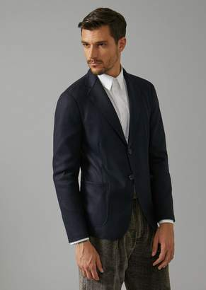 Giorgio Armani Single-Breasted Jacket In Virgin Wool