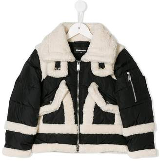 DSQUARED2 padded faux shearling jacket