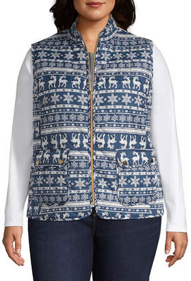 ST. JOHN'S BAY Quilted Vest - Plus