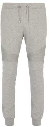 Balmain Slim Leg Trackpants - Mens - Light Grey