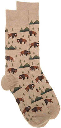 Hot Sox Bison Crew Socks - Men's