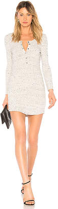 David Lerner Long Sleeve Henley T Shirt Dress