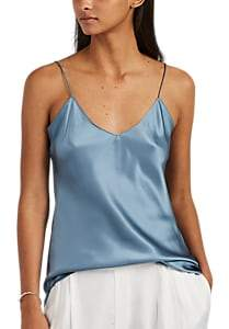 Nili Lotan Women's Isabella Silk Charmeuse Cami - Sky Blue