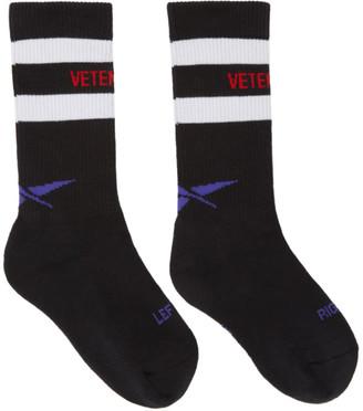 Vetements Black Reebok Edition Tennis Socks $95 thestylecure.com
