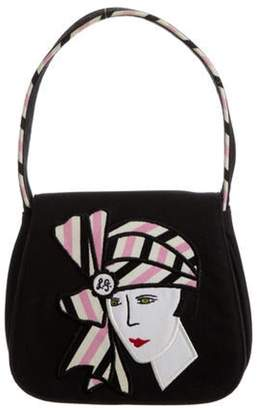 Lulu Guinness Dark Denim Handle Bag Black Dark Denim Handle Bag