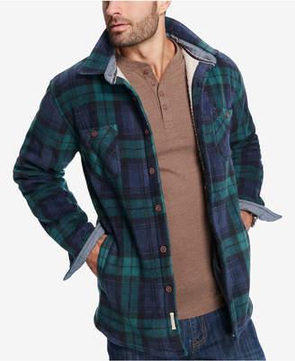 Weatherproof vintage men 39 s plaid fleece lined jacket for Weatherproof vintage men s lightweight flannel shirt