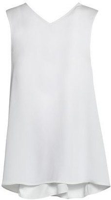 Helmut Lang Knotted Textured Crepe De Chine Tank