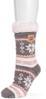 Muk Luks Women's Patterned Cabin Slipper Socks