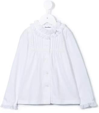 Familiar ruffled collar blouse