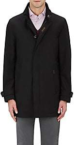 Moorer Men's Waterproof Tech-Twill Raincoat-Black