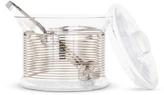 Tom Dixon Tank Ice Bucket Platinum Stripe & Tongs