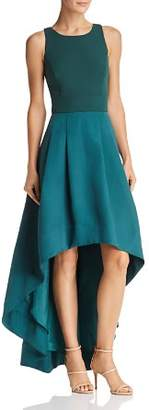 Eliza J High/Low Color-Block Gown