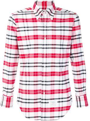 Thom Browne Classic Long-Sleeve Oxford Shirt In Large Tartan Check