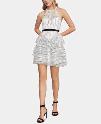 BCBGMAXAZRIA Illusion Fit & Flare Dress