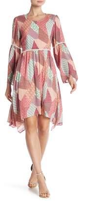 Nanette Lepore NANETTE Flare Sleeve Bohemian Dress