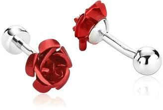 MoAndy Men's Cufflinks Stainless Steel Fashion Elegant Rose Flower