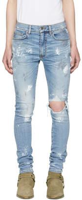 Amiri Blue Artist Broken Jeans