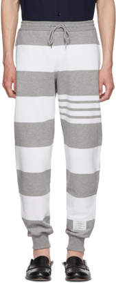 Thom Browne Grey Engineered Rugby Stripe Lounge Pants