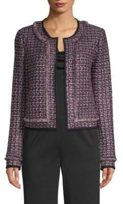 St. John Painterly Sheen Tweed Jacket