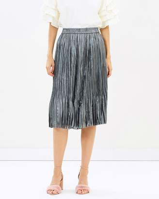 Maison Scotch Below the Knee Pleated Skirt