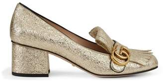 Gucci Metallic mid-heel pump