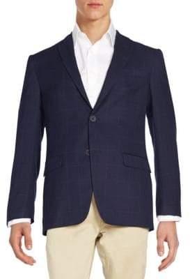 Tommy Hilfiger Windowpane Check Wool-Blend Jacket