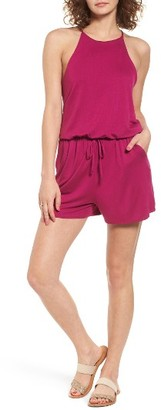 Women's Socialite Tie Waist Romper $39 thestylecure.com