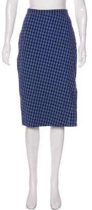 Altuzarra Seersucker Plaid Skirt