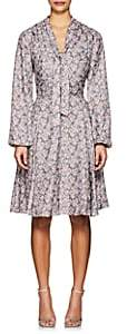 Barneys New York WOMEN'S FLORAL LONG-SLEEVE DRESS