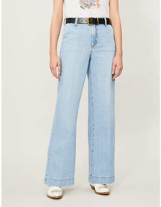 Nobody Denim Francoise wide-leg high-rise jeans