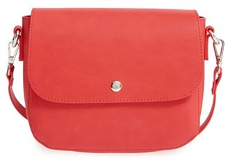 Bp. Minimal Faux Leather Crossbody Bag - Red $35 thestylecure.com