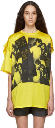 Raf Simons Yellow Displaced Sleeve T-Shirt