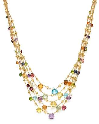 """Marco Bicego 18K Yellow Gold Paradise Five Strand Mixed Stone Necklace, 16.5"""""""