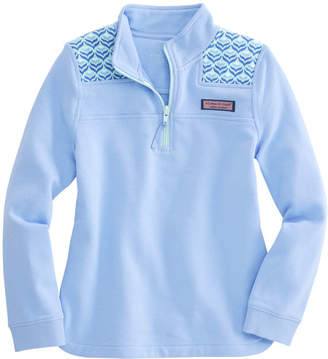 Vineyard Vines Girls Diamond Whaletail Relaxed Shep Shirt