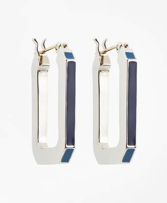 Brooks Brothers Large Iconic Link Earrings