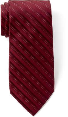 MICHAEL Michael Kors Red Park Stripe Silk Tie