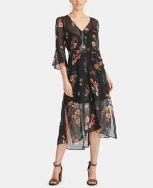 Rachel Roy Rosita Floral Button-Front Midi Dress