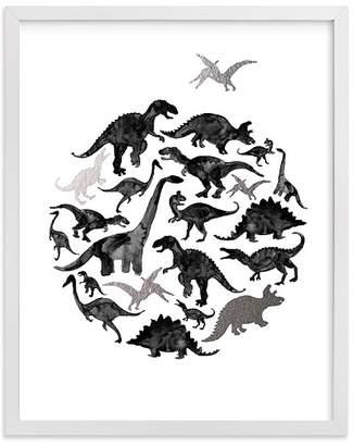 Pottery Barn Kids Jurassic Circle Wall Art by Minted® 8x10, White