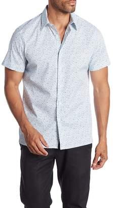 Perry Ellis Short Sleeve Paisley Print Shirt