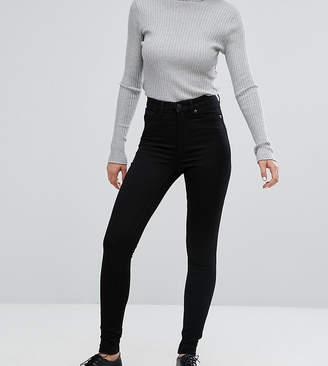 Monki Oki skinny high waist jeans with organic cotton in deep black