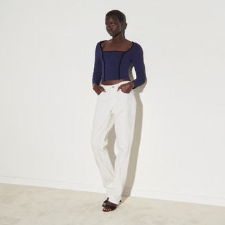 Sandro Cropped top with square neckline