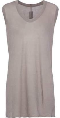 Rick Owens Melange Cotton-jersey Top