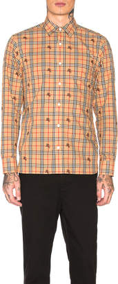 Burberry Edward Plaid Long Sleeve