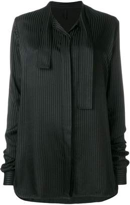 Unravel Project striped tie neck blouse