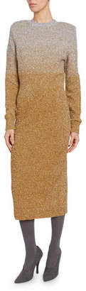 Dries Van Noten Shimmer Ombre Sheath Dress