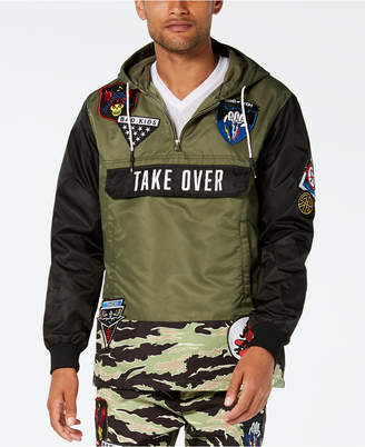 Reason Men Take Over Camo Colorblocked Hooded Track Jacket