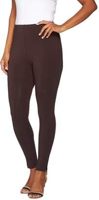 Susan Graver Weekend Cotton Modal Leggings with Side Slits
