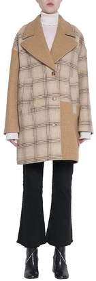 MM6 MAISON MARGIELA Camel Wool Patchwork Coat