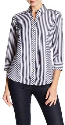 Foxcroft Preppy Stripe Fitted Shirt