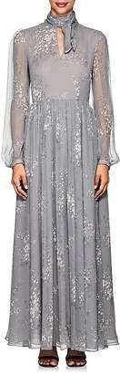 Co Women's Floral Silk A-Line Midi-Dress